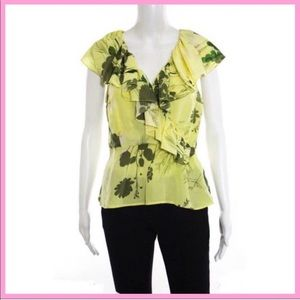 PLENTY BY TRACY REESE | Floral Silk Surplice Top
